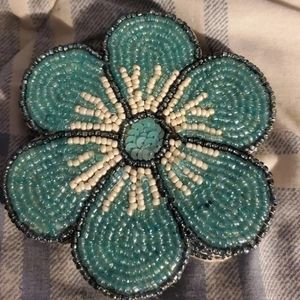 Beaded Flower  Coasters